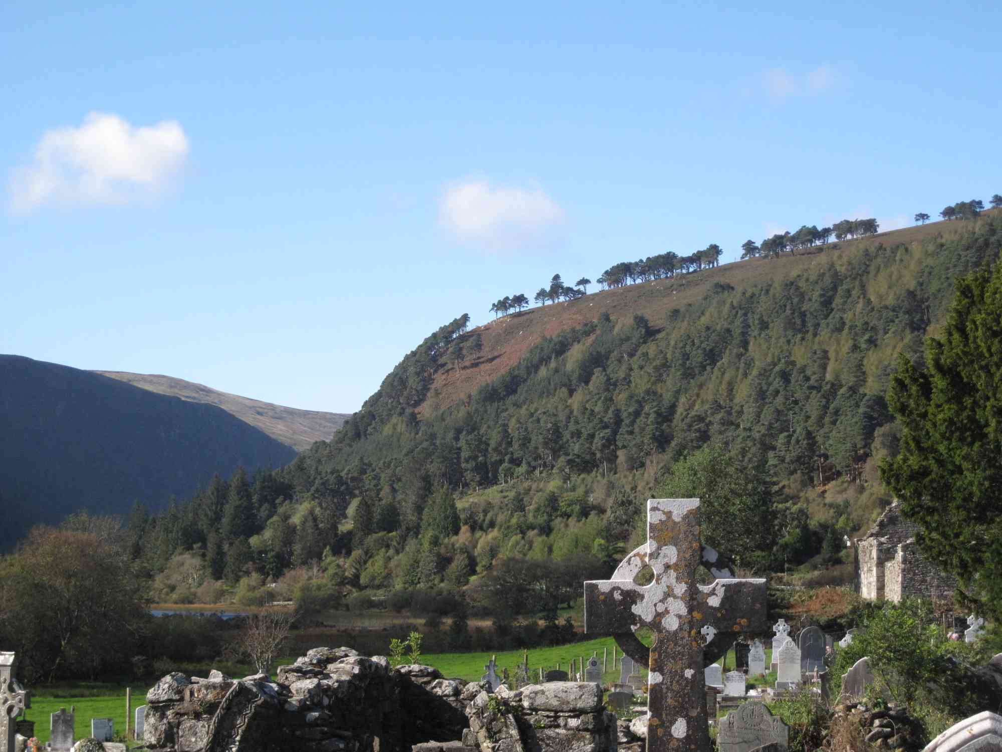 Glendalough with hillside beyond